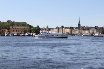 A view of Stockholm in the summer