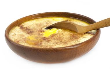 Tradtitional Norwegian sour cream porridge