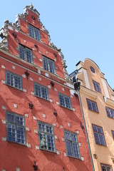 Nice buildings in the old town of Stockholm