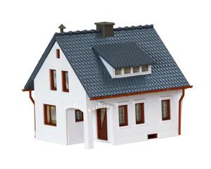 miniature house isolated on white background