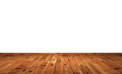 Weisse Wand mit Holzboden - Eiche mit Astlöchern