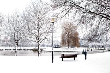 Dutch park in wintertime