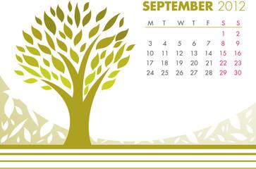 September Tree Calendar 2012
