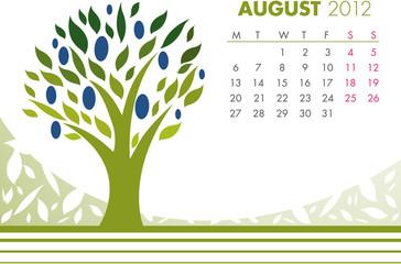 August Tree Calendar 2012