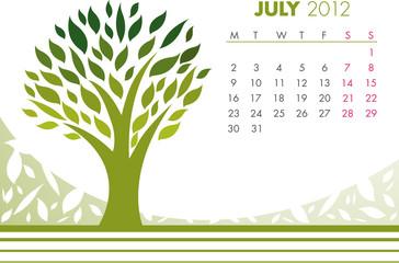 July Tree Calendar 2012