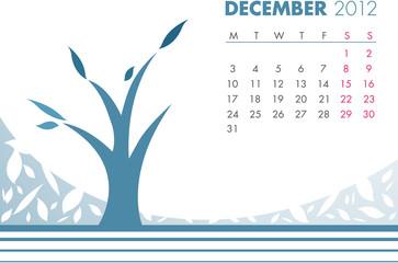 December Tree Calendar 2012