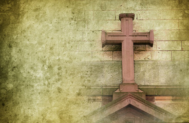 old stone cross