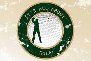 Vintage golf background - It's all about golf
