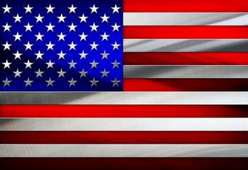 Metal Flag Of USA