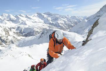 Klettertour im Winter