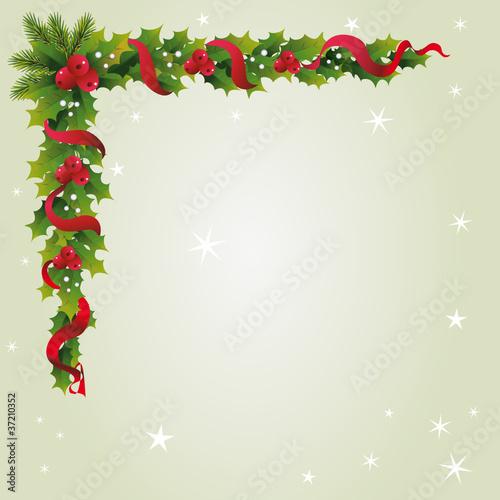 briefpapier mit weihnachts girlande stockfotos und. Black Bedroom Furniture Sets. Home Design Ideas