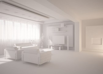 grey minimal interior design