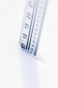 Ruler in deep snow