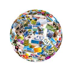 Collage photos sphère