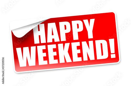 happy weekend button icon stockfotos und lizenzfreie bilder auf bild 37230556. Black Bedroom Furniture Sets. Home Design Ideas