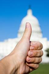 Thumbs up to Washington on Capitol Hill