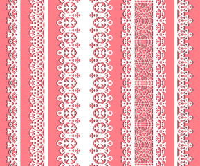 cute straight seamless lace set