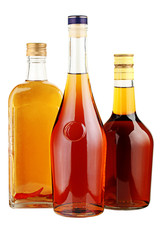 Poster Alcohol Alcohol in glass bottles.