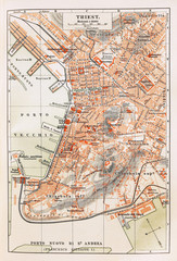 Old map of Trieste