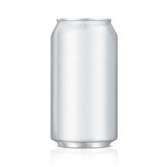 blank aluminum can  (with clipping path)