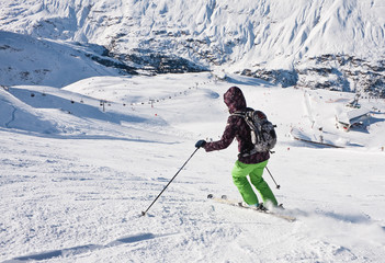 On the slopes of the ski resort of Obergurgl Austria