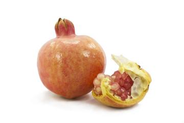 Fototapete - pomegranate isolated on white background