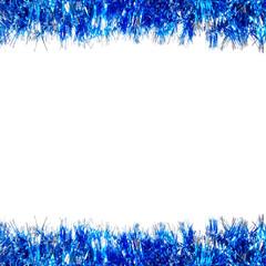 Blue Christmas garland border