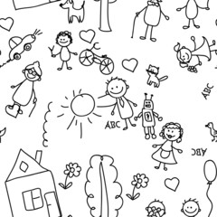 детский рисунок бесшовных