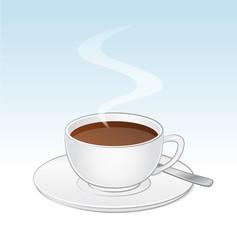 Kaffeetasse, mit Löffel