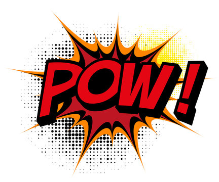 Pow. Comic book explosion.