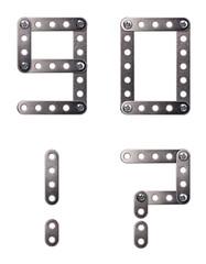 Metal interlocking numbers and symbol