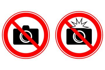 No photo (flash) signs