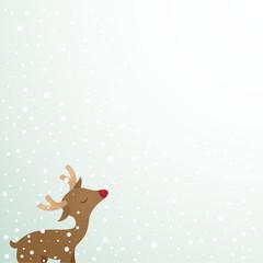 Reindeer, snow, copyspace