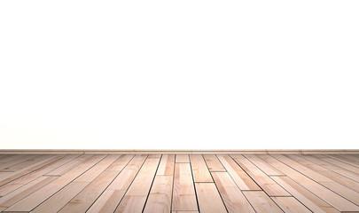 Hellem Holzboden vor Wand