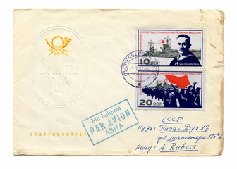 "Vintage envelope ""German Revolution of 1918–1919"""