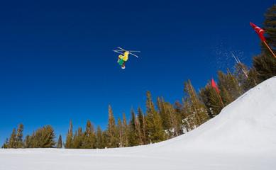 Ski gets Big Air off Jump