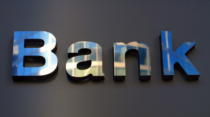 Bank corporation office sign