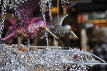 glass bird at medieval market, esslingen