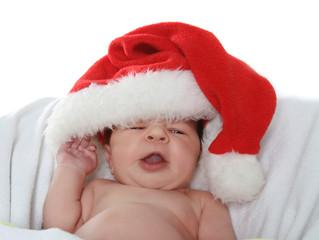 santa baby over white