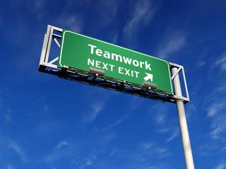 Teamwork - Freeway Exit Sign