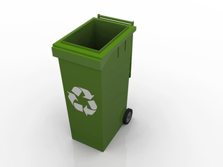 a illustration of a islated recycle container