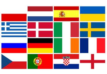 Flaggen Fußball Europameisterschaft 2012