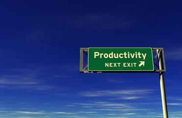 Productivity Freeway Exit Sign