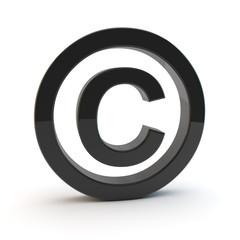 urheberrecht copyright symbol 3d