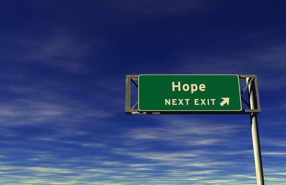 Hope, Freeway Exit Sign