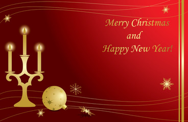 red vector christmas frames with gold decorations