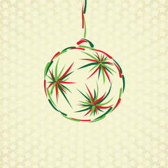 merry christmas toy ball xmas card celebration circle
