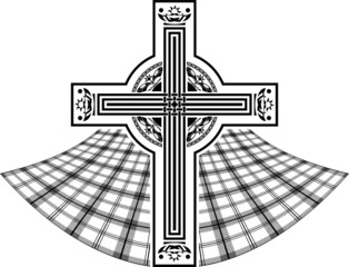 stencil of scottish celtic cross