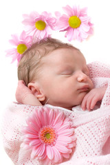 Sleeping baby girl infant