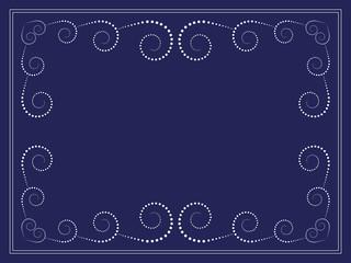 vector dots swirl frame